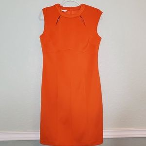 London Times Dresses - LONDON TIMES Fitted Dress in Orange